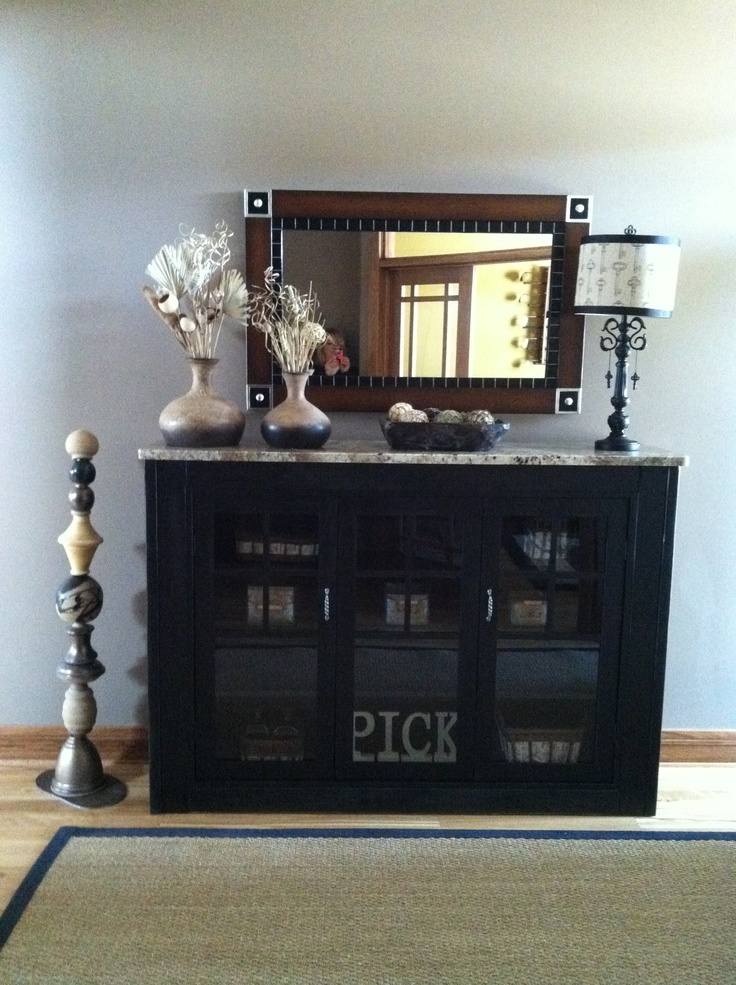 Foyer Table With Granite Top : Entryway table with granite top for the home