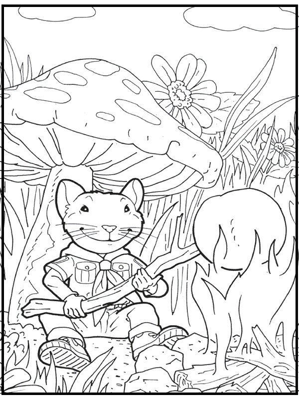 Stuart Little As Scout Coloring Pages For Kids Printable