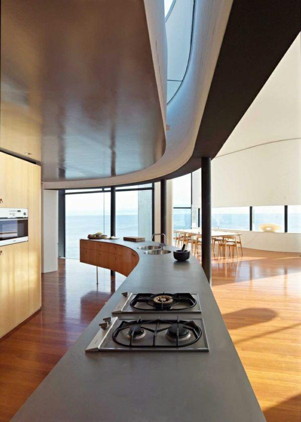Maritimes Wohnen Küche Kücheninsel