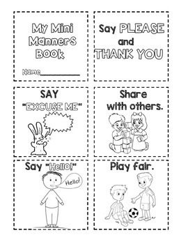 Manners- Mini Manners Book