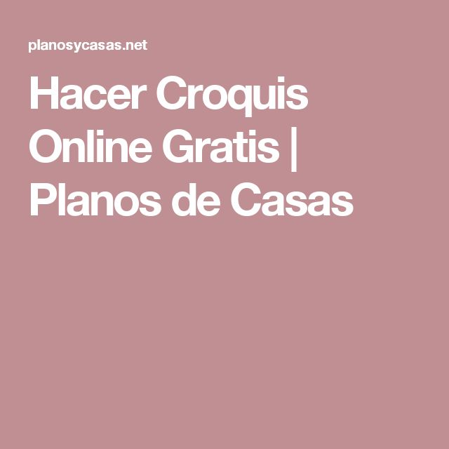Hacer Croquis Online Gratis | Planos de Casas