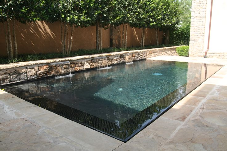 Perimeter overflow pool architecture pools pinterest for Water pool design