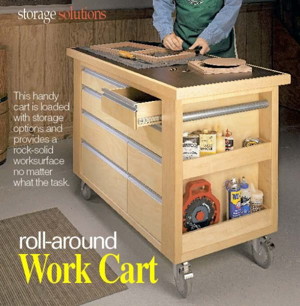Mobile woodworking cart woodworking ideas pinterest woodworking Home styles natural designer utility cart