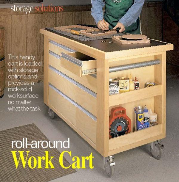 Mobile Woodworking Cart   Woodworking Ideas   Pinterest ...
