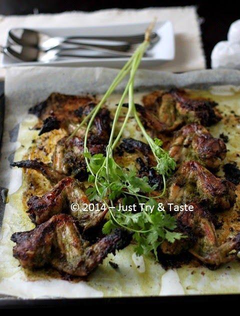 Just Try & Taste: Sayap Ayam Panggang Bumbu Daun Ketumbar dan Bawang