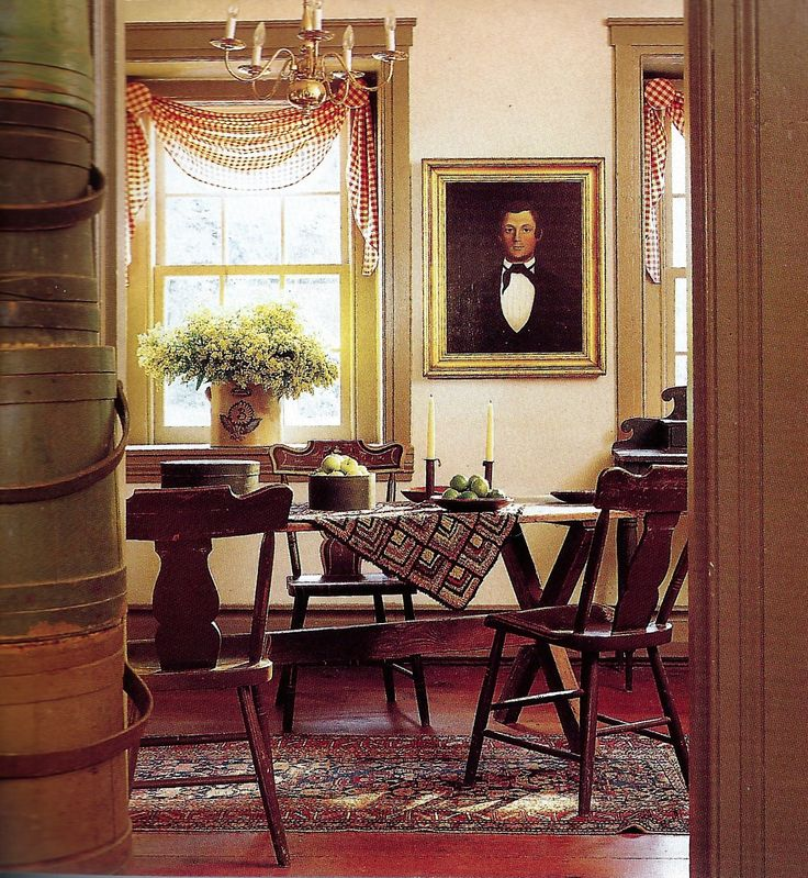 Note the swags. 213 best Colonial dining rooms images on Pinterest   Primitive
