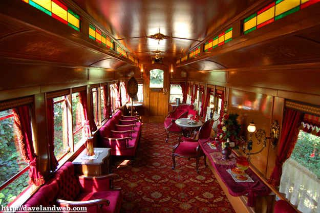When the park first opens, go to the Main Street Station and ask for a reservation to ride in the Lily Belle train car.
