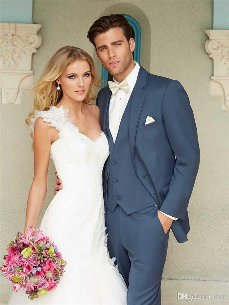 Discount Tailor Suits Tux Groom Tuxedos Cheap Bridegroom Morning Mens Blazers Wedding Suit for Men Grey Navy White Blazer Jacket Vest Pants AL08 Online with $73.3/Piece | DHgate