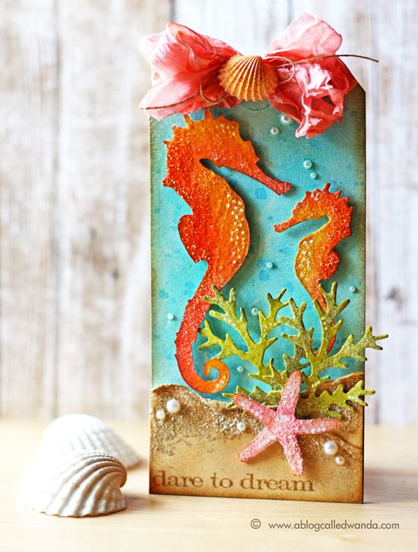 Tim Holtz 12 Tags of 2014 July Tag by Wanda Guess