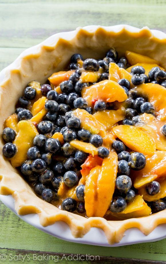 blueberry peach pie bursting with juicy flavor. You will love this pie ...