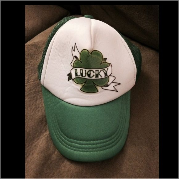 Lucky trucker hat St. Patty's day - lucky truckers hat Accessories Hats