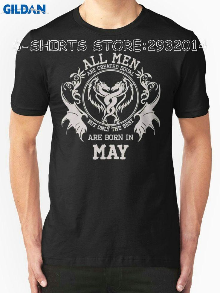 Gildan 8-Shirts Customised T Shirts Short Born In May Short O-Neck T Shirts For Men #Affiliate