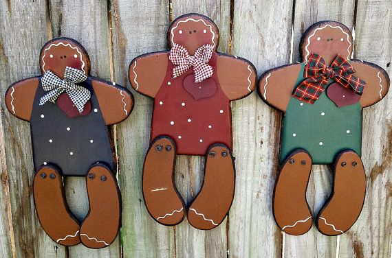 Country Primitive Gingerbread Girl  Wood  by GypsyWindPrimitives
