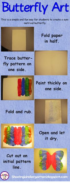 Kreative in Kinder: Butterfly ART!!