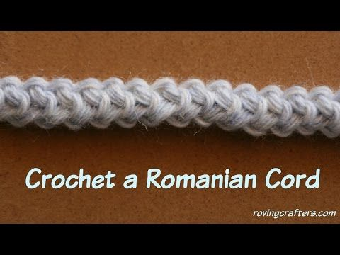 How to Crochet Romanian Cord - YouTube