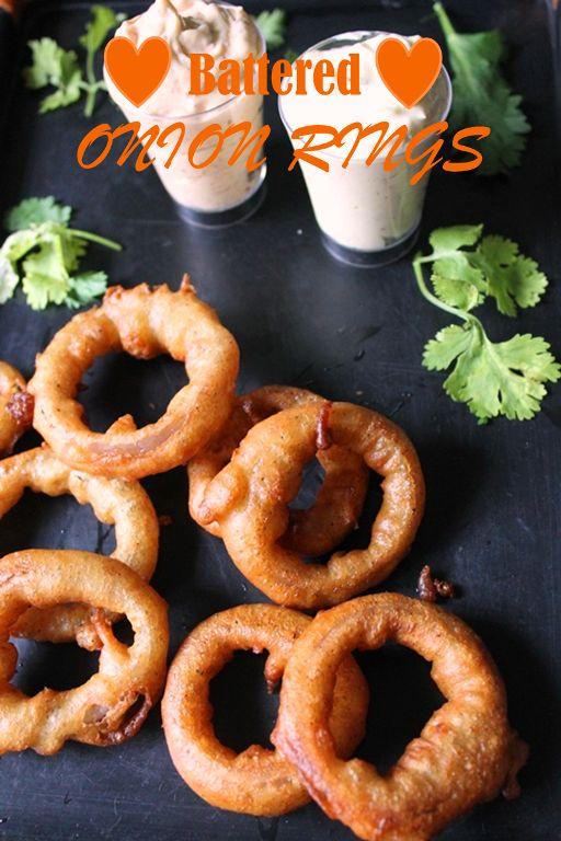 YUMMY TUMMY: Fried Onion Rings Recipe / Battered Onion Rings Recipe / Batter Fried Onion Rings Recipe