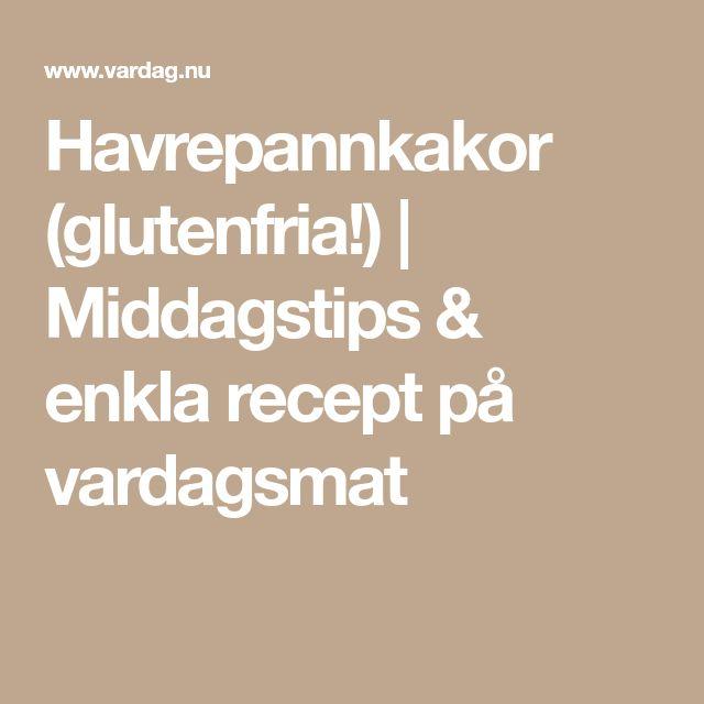 Havrepannkakor (glutenfria!) | Middagstips & enkla recept på vardagsmat