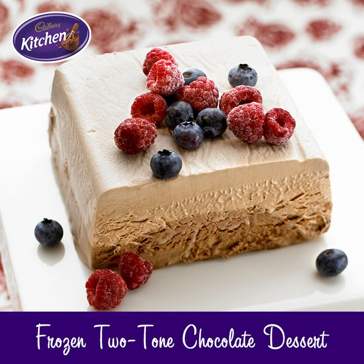 Unbelievably easy and delicious. Your family and friends will be licking their plates, guaranteed! #baking #chocolate #frozen #dessert #icecream To view the product featured in this #Cadbury recipe visit https://www.cadburykitchen.com.au/products/view/baking-block/