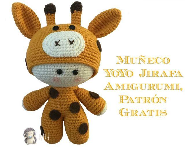 Amigurumi Patrón libre de jirafa Ganchillo - Patrones de amigurumi ... | 510x640
