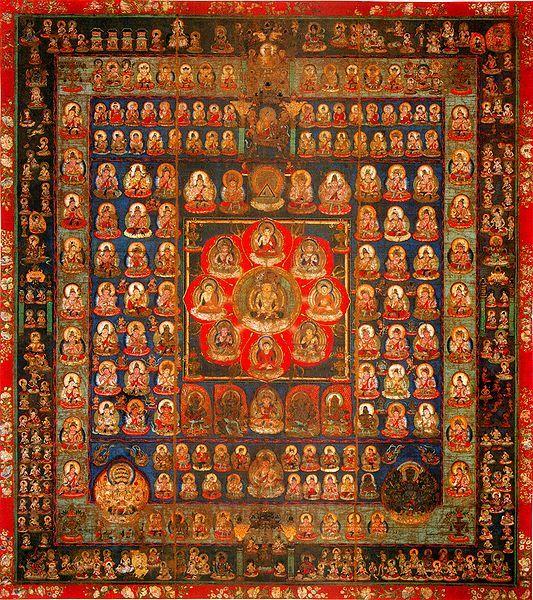 mandara, taizo-kai 伝真言院両界曼荼羅 胎蔵界