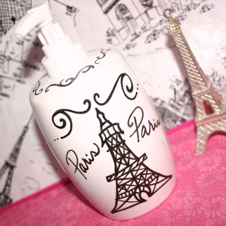 Paris decor themed bathroom accessories eiffel tower - French themed bathroom accessories ...