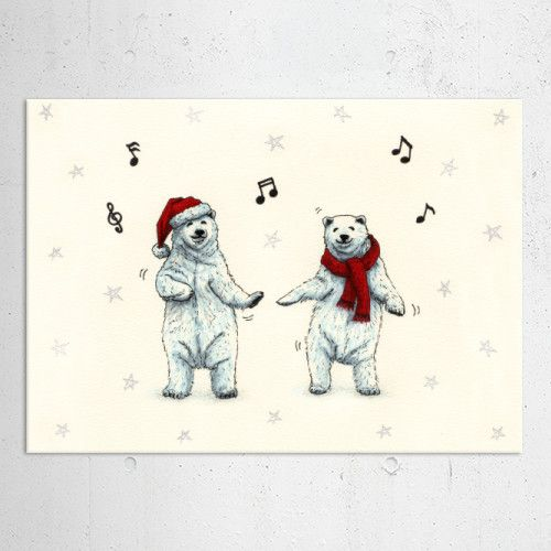 The polar bears wish you a Merry Christmas (drawing) Poster made out of metal by @savousepate on @displate #artprint #homedecor #polarbears #christmasdecor #xmasdecor #merryxmas #merrychristmas