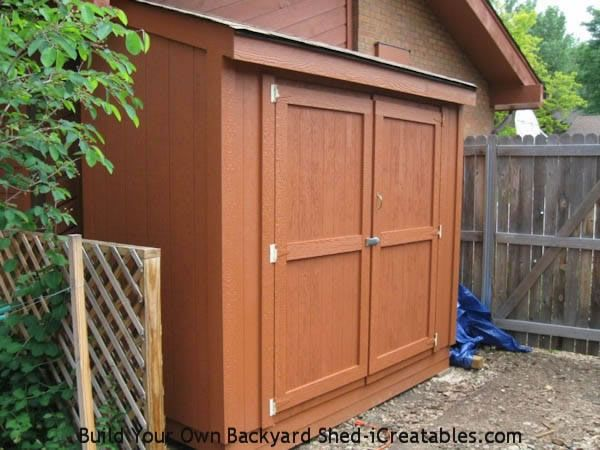 4x8 lean to shed with double doors diy furniture and for Double door shed plans