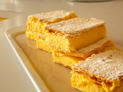 Italian Vanilla Slice Recipe - Best Home Chef #dessert #italian
