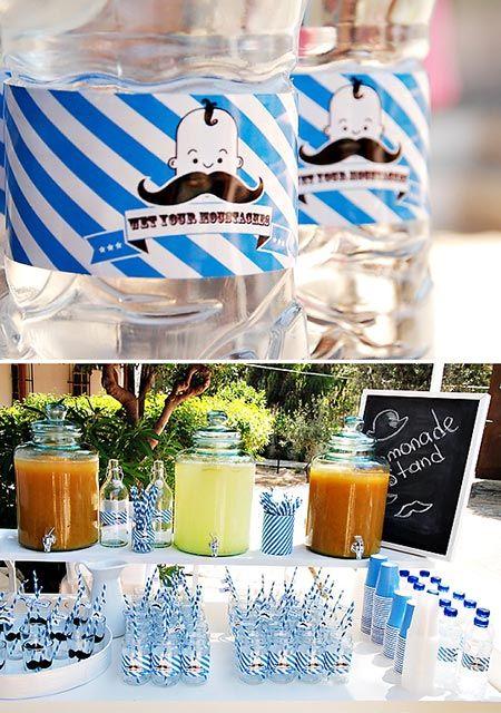 """Una fiesta """"moustache"""" para el pequeño de la casa - Inspiración e ideas para fiestas de cumpleaños - Fiestas de cumple para niños - Charhadas.com"""