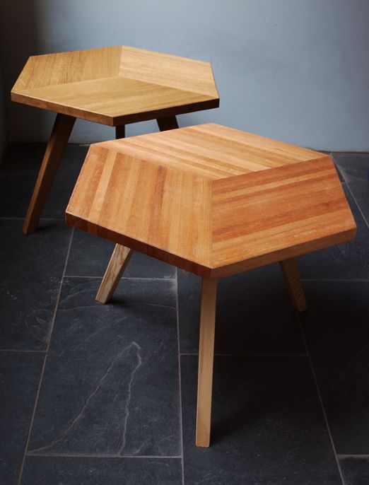 "Coffee table ""Solid wood"" in oak and ruby wood by Romy Kühne Design"