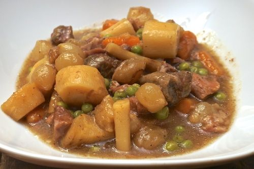 This crock pot lamb stew recipe was adapted from our 1975 edition of the Rival Crock Pot Cooking cookbook filled with recipes for the original slow cooker.