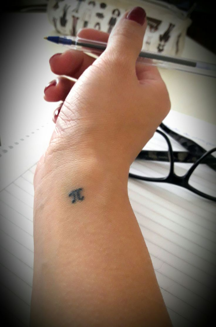 #pi #3.14 #tattoo #simple #litletattoo #femtattoo #inclass #mini