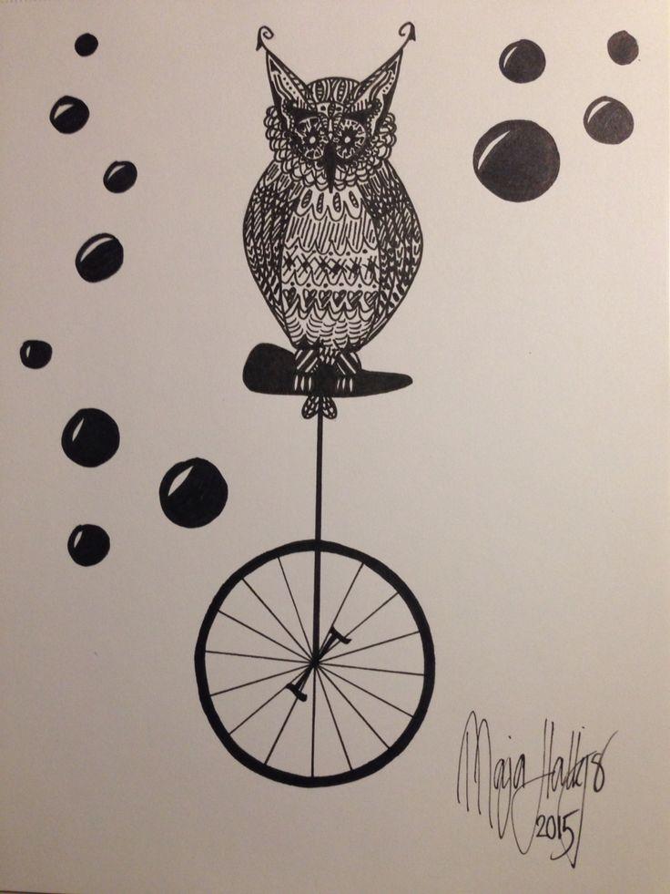 Et-hjulet-ugle-cykel