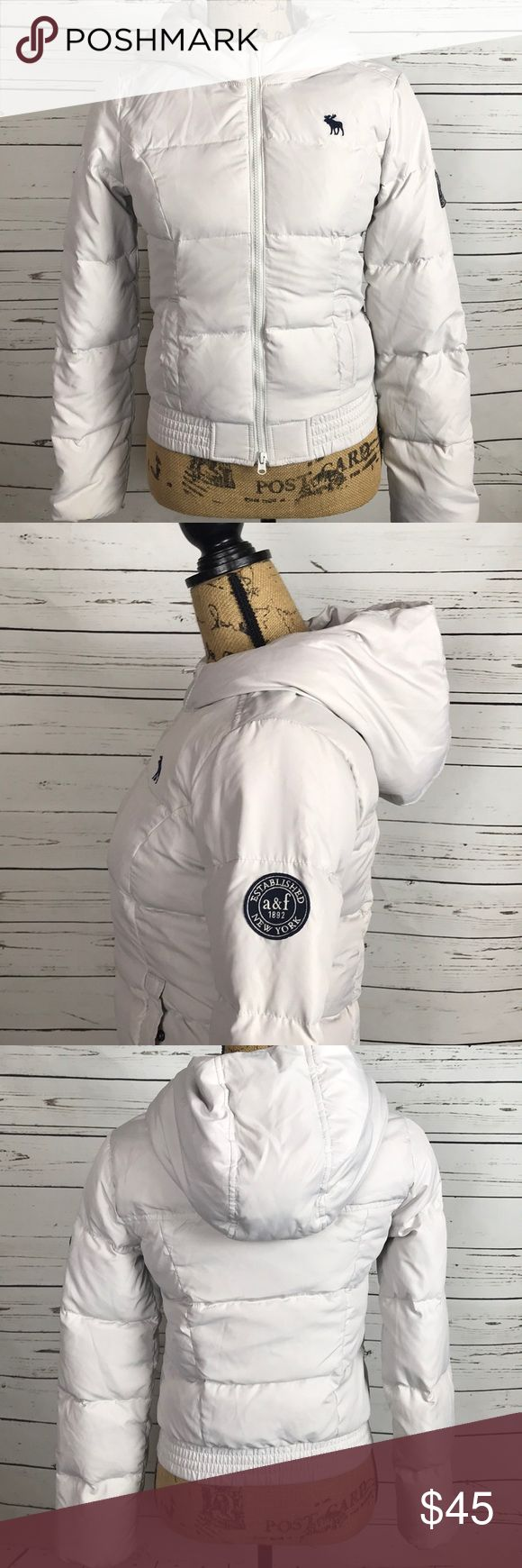 Abercrombie Kids winter jacket Down filled, color is very light gray, abercrombie kids Jackets & Coats Puffers