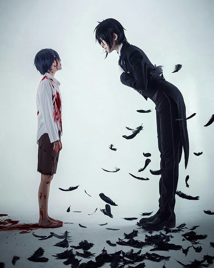 Anime Black Butler ( Kuroshitsuji ) Personagens Ciel Phantomhive & Sebastian…