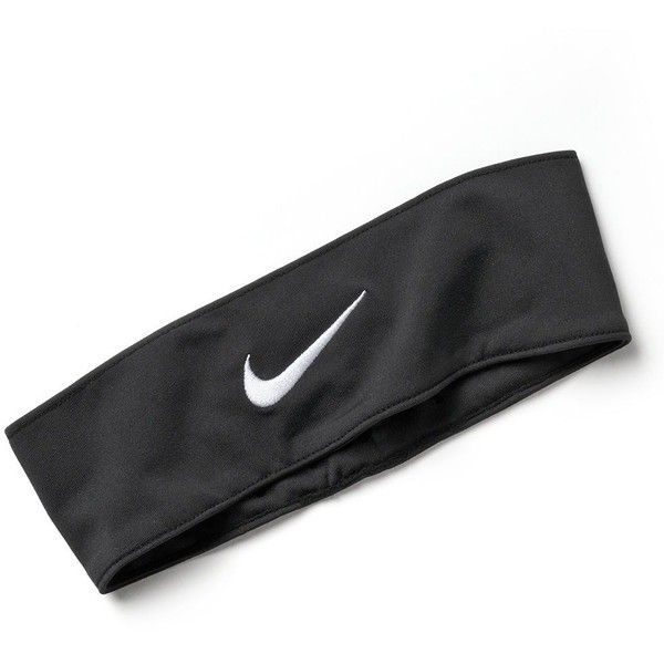 Nike Fury Headband ($15) ❤ liked on Polyvore featuring accessories, hair accessories, hair, hats, headbands, black, hair bands accessories, hair band headband, nike y black headband