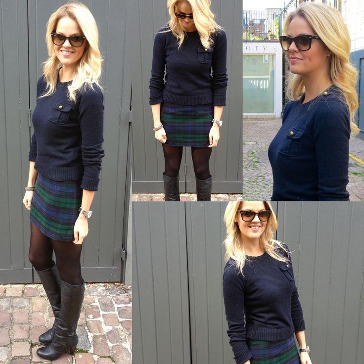 How to wear: Tartan Mini Skirt Outfit ~ Dutchess Roz