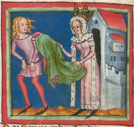 Rudolf / Jansen Enikel, Jans: Weltchronik in Versen - Mischhandschrift aus Christ-herre-Chronik um 1370 Cgm 5  Folio 55v