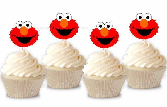 Elmo Cupcake Toppers Elmo Toppers Elmo Birthday Elmo Party