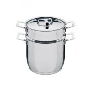 Pasta Set Alessi Pots and pans http://www.ideesboutique.com/cuire-rotir-papillote-terrine/579-pots-and-pans-pasta-set-8003299924288.html
