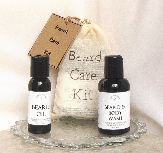 A traveling Spring #Beardcare Kit of Beard Oil and Beard Wash for men. This 2 Pc men beard grooming gift comes in a linen drawstring bag and is a welcomed Fathers Day gift or groomsmen gift. These 2 natural beard products work together to help condition and restore dry wintertime beards and is made with certified organic ingredients. The #beard #grooming bag gift set comes with a 1oz Beard Oil and a 2oz Beard & Body Wash tucked inside a linen drawstring bag and has a gift tag. Available in…