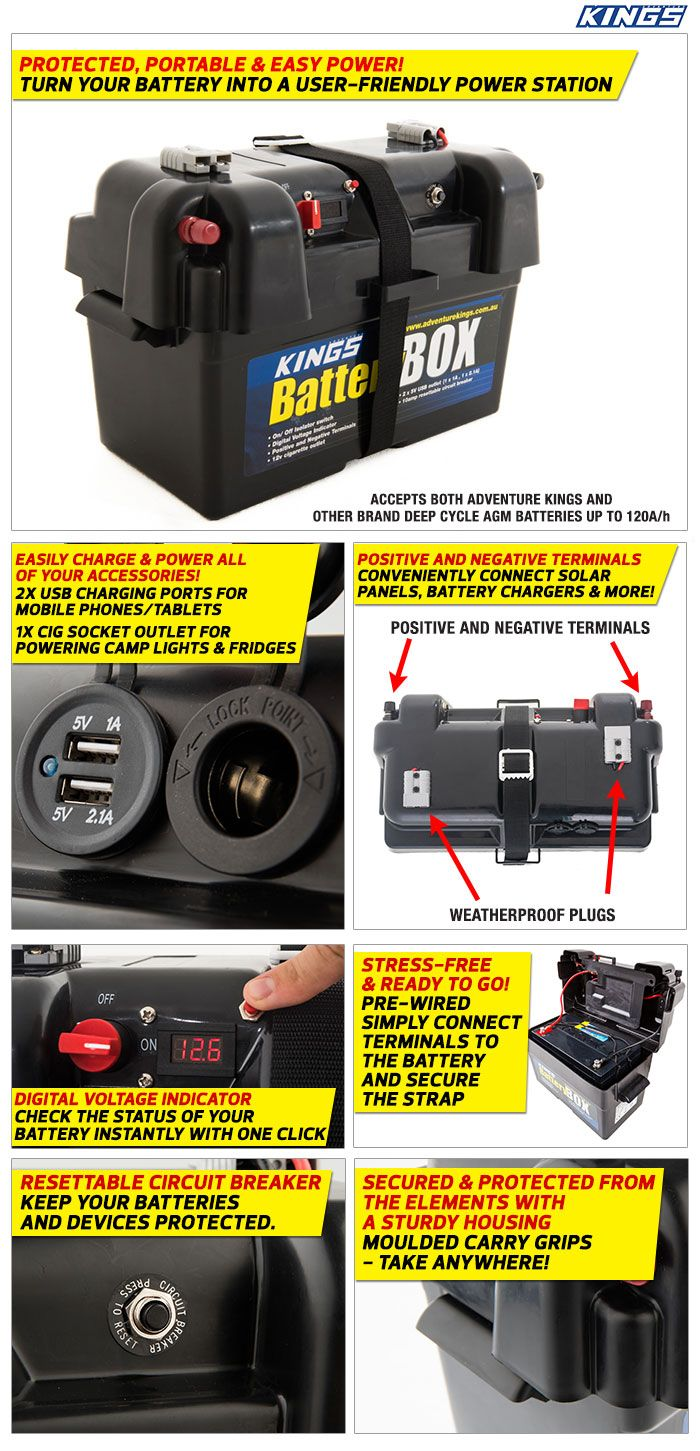 4Wd Supacentre Jump Starter adventure kings 120w portable solar blanket + battery box +