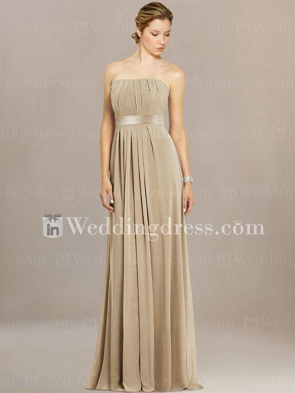 strapless bridesmaid dresses_Cafe