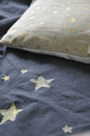 DIY: gold star - fabric