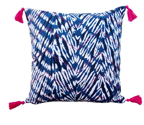 Shibori chevron pillow by VLiving on Etsy, $15.00