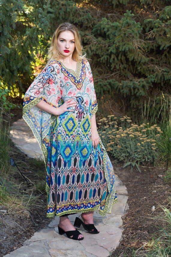 35ece53ef kaftan dress caftan maxi plus size/regular size dress in v neck comes  embellished full length maxi