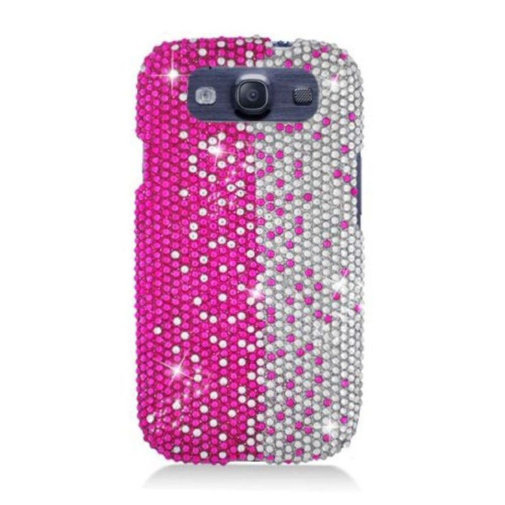 Insten / Silver Hard Snap-on Rhinestone Bling Case Cover For Samsung Galaxy S3 #2318828