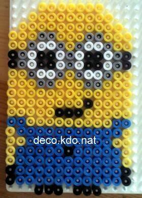 HAMA PERLER BEADS / PERLES À REPASSER / STRIJKPARELS - MINIONS / IKKE - Despicable Me Minion hama perler beads by deco.kdo.nat