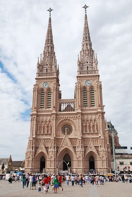 The large neo-gothic basilica from Luján, Argentina