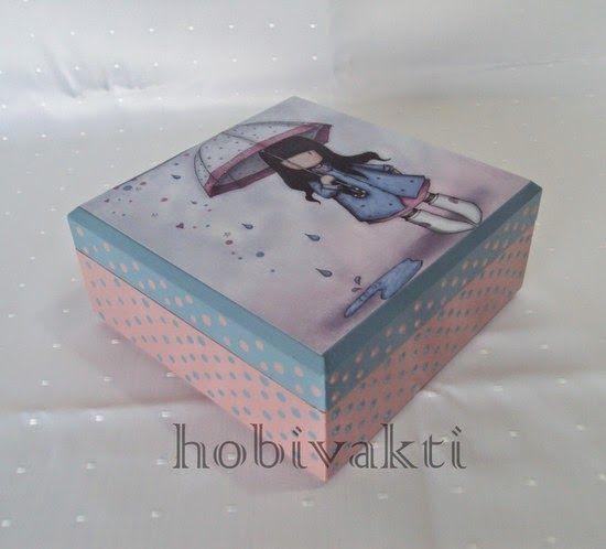 ♥♥ Hobi Vakti ♥♥: Mavi & Pembe Kutu